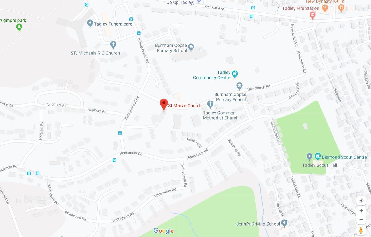 Tadley St Marys Church Map